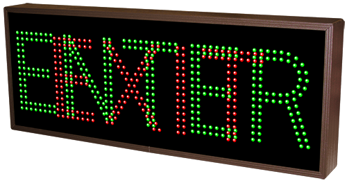 Outdoor LED Signal Signs - Enter / Exit Toggle