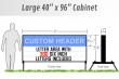 Outdoor Lighted Portable Message Sign - Custom Header Reader Board