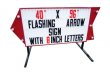 Outdoor LIghted Portable Message Sign - Flashing Arrow Body