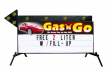 Outdoor LIghted Portable Message Sign - Custom Header Flashing Arrow