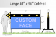 Outdoor Lighted Portable Identification Signs
