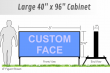 Outdoor LIghted Portable Message Sign - Identification Face