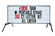 Outdoor Lighted Portable Message Sign - Economy Reader Board