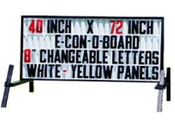 Standard Reader Board Sign