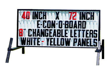 Outdoor Lighted Portable Message Sign - Standard Reader Board