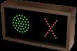 Outdoor LED Signal Signs - Indicator Dot / X