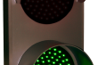Outdoor LED Signal Signs - Double Indicator Dots w/ Hoods