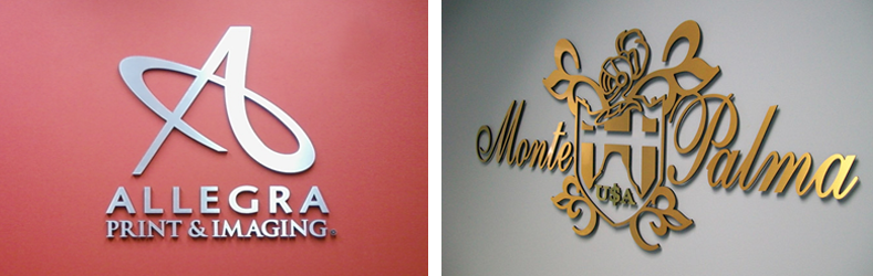 Custom Dimensional Metal Logos