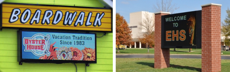 Outdoor Full Color LED Message Center Signs