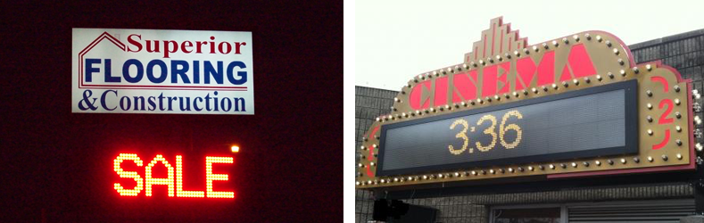 Monochrome LED Message Center Sign