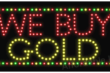 Indoor Window Message LED Signs - We Buy Gold