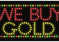We Buy Gold LED