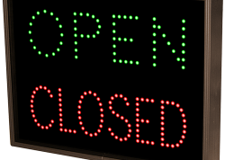 Open/Closed Square Sign