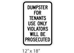 Dumpster For Tenants