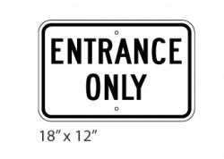 Entrance Only