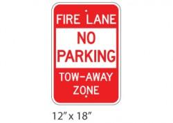 Fire Lane No Parking Tow Away Zone