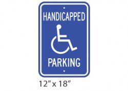 Handicap Parking Text