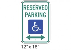 Reserved Parking Arrows