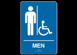 Men Handicap Sign
