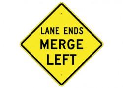 Lane Ends / Merge Left