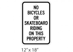 No Bikes Or Skateboards