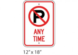 No Parking Any Time Header