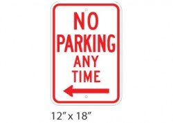 No Parking Any Time Left