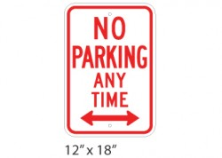 No Parking Any Time – Double