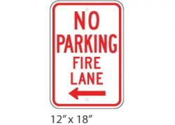 No Parking Fire Lane Left