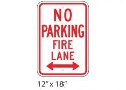 No Parking Fire Lane Left Right