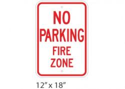 No Parking Fire Zone
