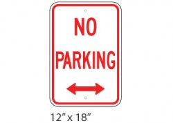 No Parking Left Right