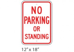 No Parking/Standing