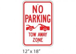 No Parking- Tow Away Zone 2