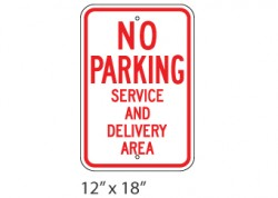 No Parking- Service And Delivery