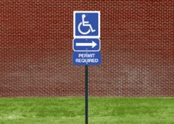 Square Handicap Sign