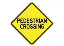Pedestrian Crossing Text