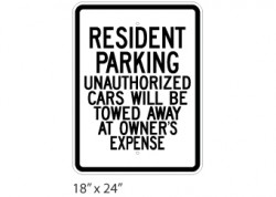 Resident Parking- Unauthorized Cars