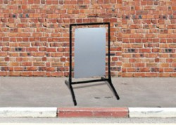 16″w x 24″h white blank only for Sidewalk Stand