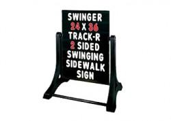 Standard Message Board Swinger Sign Black