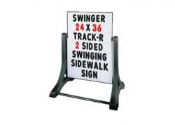 Standard Message Board Swinger Sign White