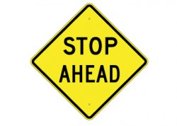Stop Ahead Text