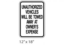 Unauthorized Vehicles Will Be Towed