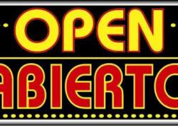 Abierto Open Sign