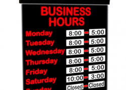 LED Business Hours Sign