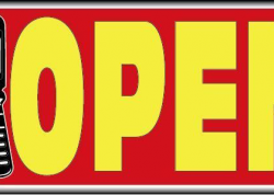 Cell Phone Open Sign