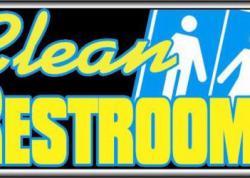 Clean Restrooms Sign