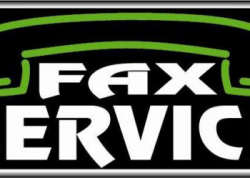 Fax Service Sign