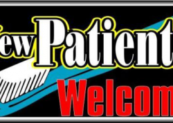 New Patients Welcome Sign