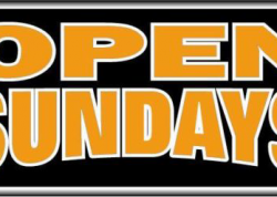 Open Sundays Sign